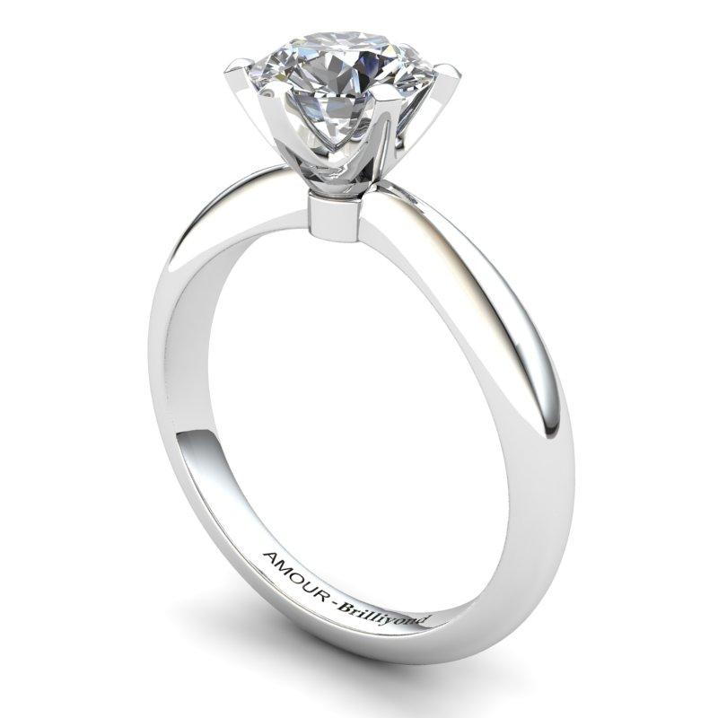 White Topaz Artisanal Tarda Solitaire Ring_image1