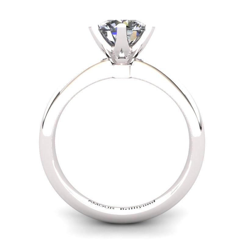 White Topaz Artisanal Tarda Solitaire Ring_image2