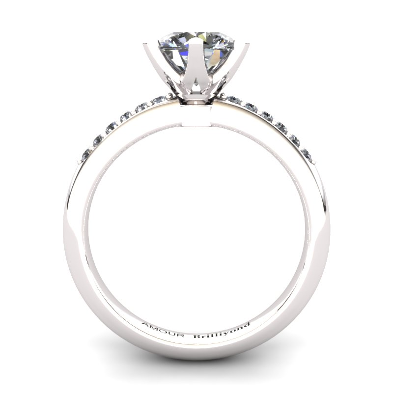 White Topaz Elite Tarda Solitaire Ring_image1