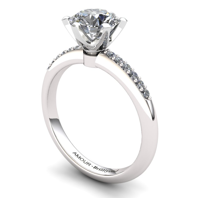 White Topaz Elite Tarda Solitaire Ring_image2