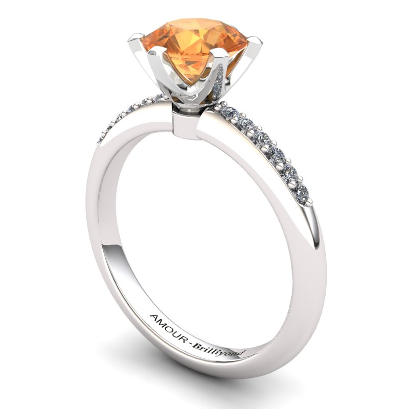Citrine Elite Tarda Solitaire Ring_image2