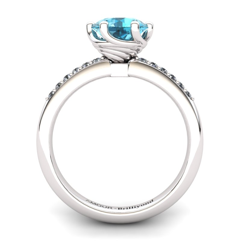 Blue Topaz Elite Eye of Cyclone Solitaire Ring_image2