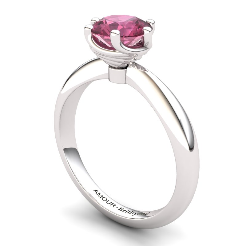 Garnet Artisanal Eye of Cyclone Solitaire Ring_image1