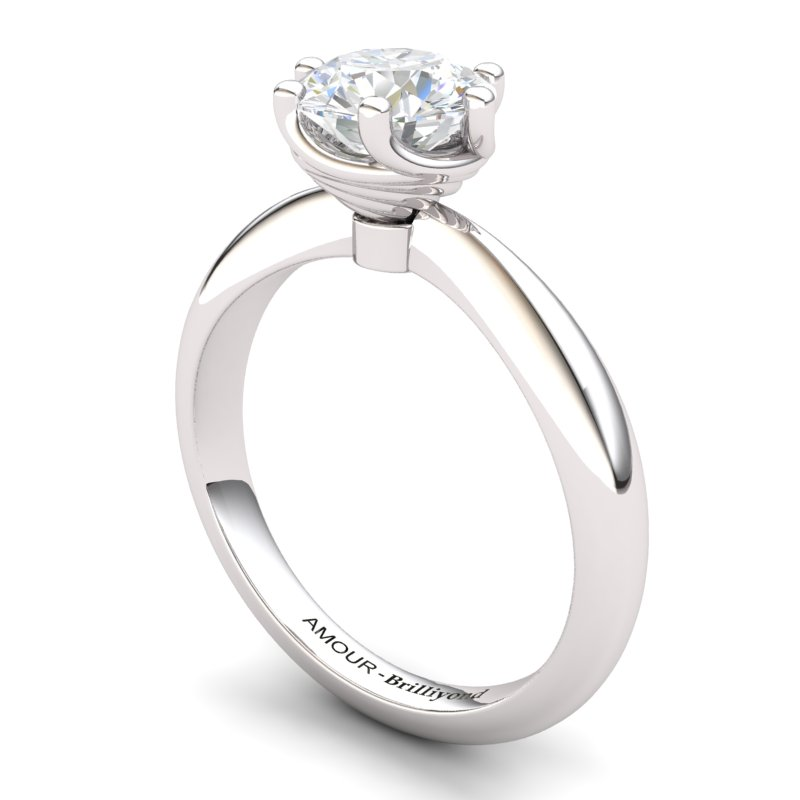 White Topaz Artisanal Eye of Cyclone Solitaire Ring_image2