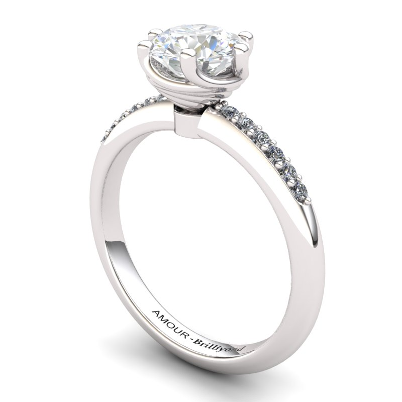 White Topaz Elite Eye of Cyclone Solitaire Ring_image1