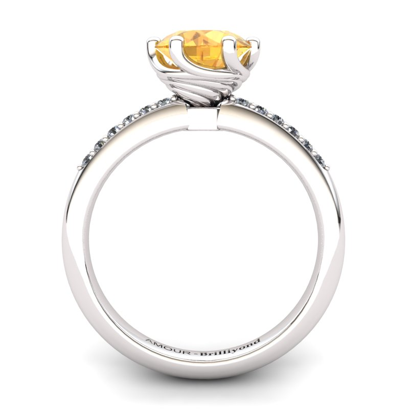 Citrine Elite Eye of Cyclone Solitaire Ring_image2