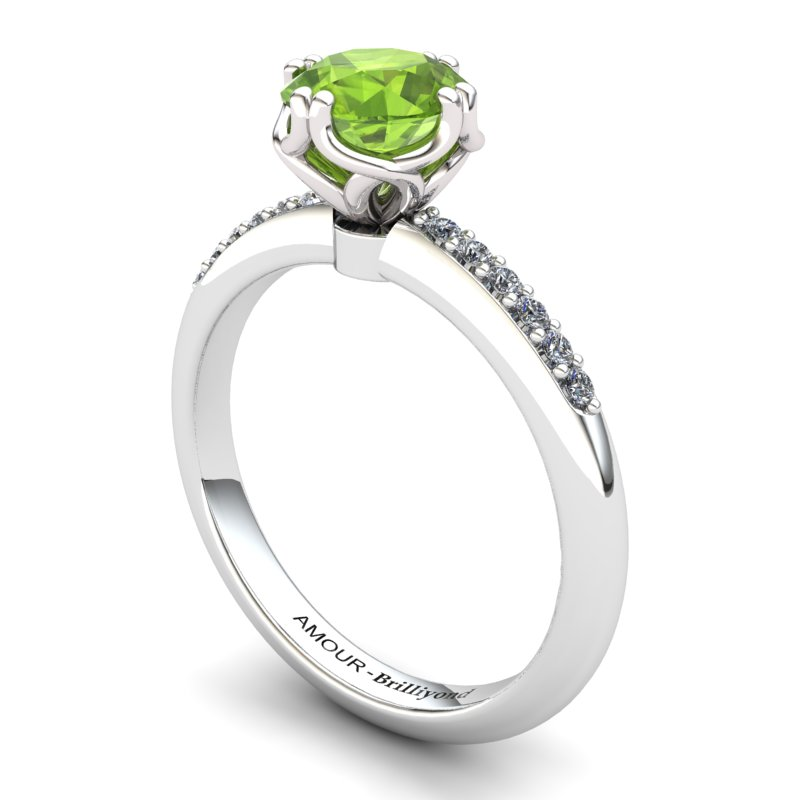 Peridot Elite Braid Round Solitaire Ring_image1