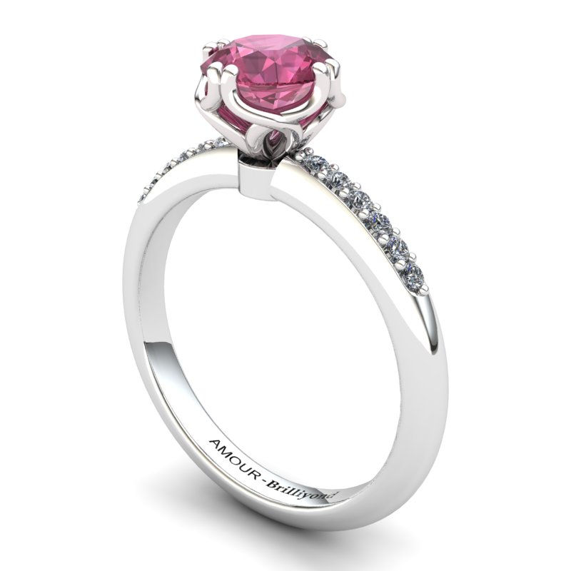 Garnet Elite Braid Round Solitaire Ring_image1