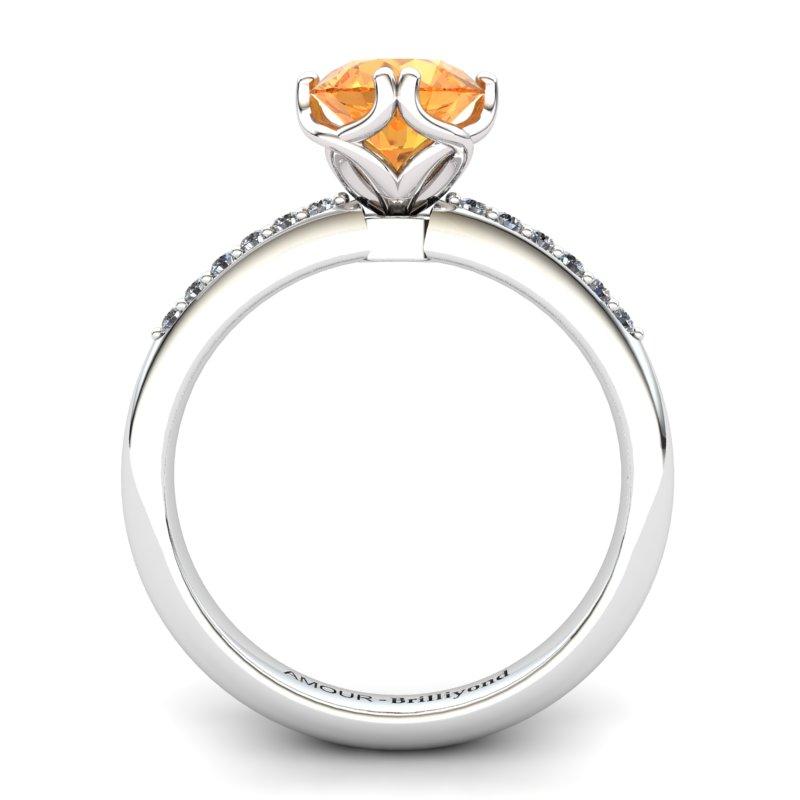 Citrine Elite Braid Round Solitaire Ring_image2