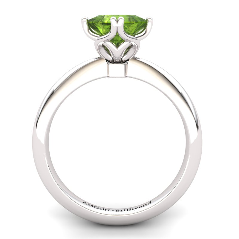 Peridot Artisanal Braid Square Solitaire Ring_image1