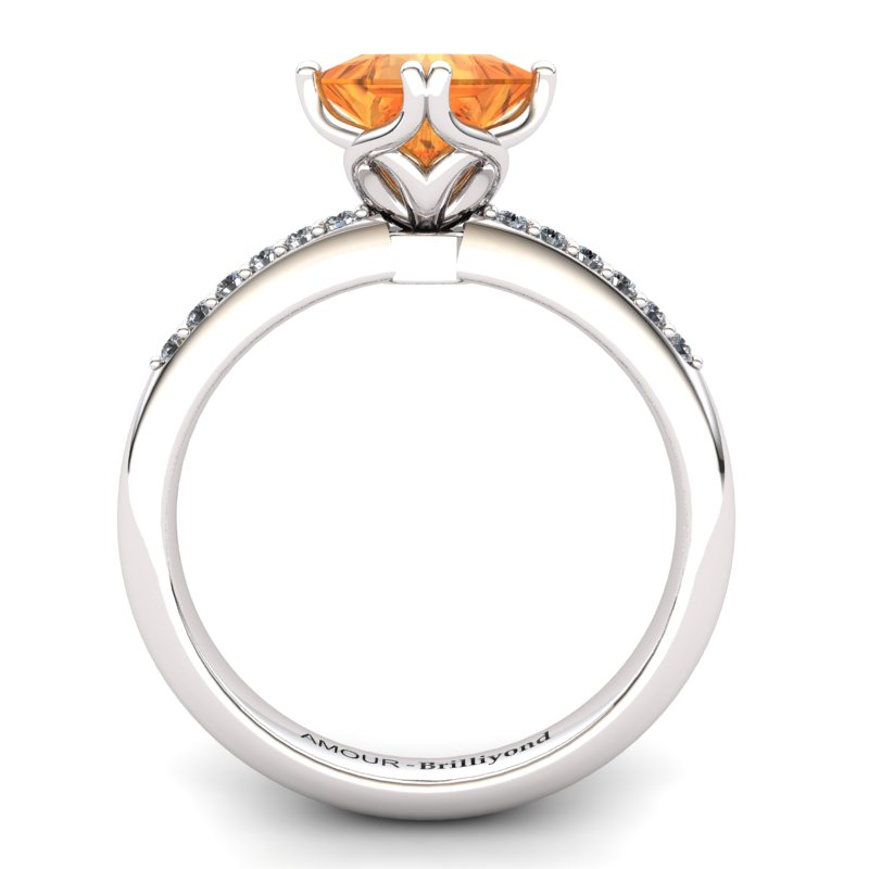 Citrine Elite Braid Square Solitaire Ring_image1