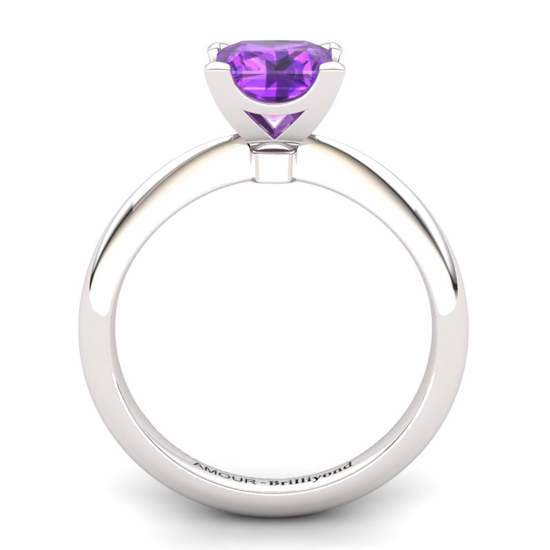 Amethyst Artisanal Magic of Love Solitaire Ring_image1