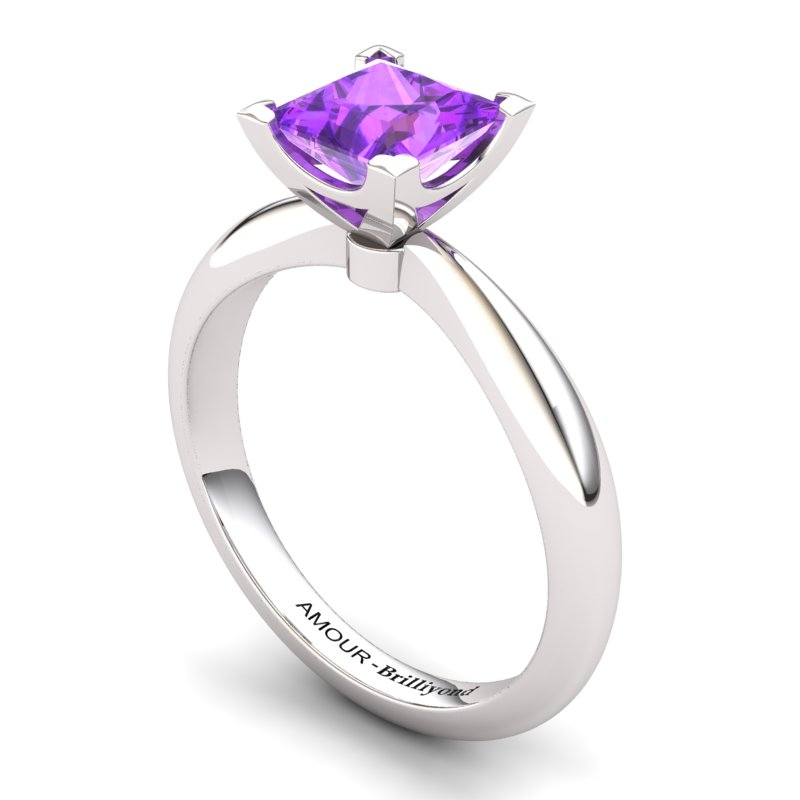 Amethyst Artisanal Magic of Love Solitaire Ring_image2