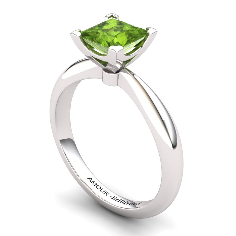 Peridot Artisanal Magic of Love Solitaire Ring_image1