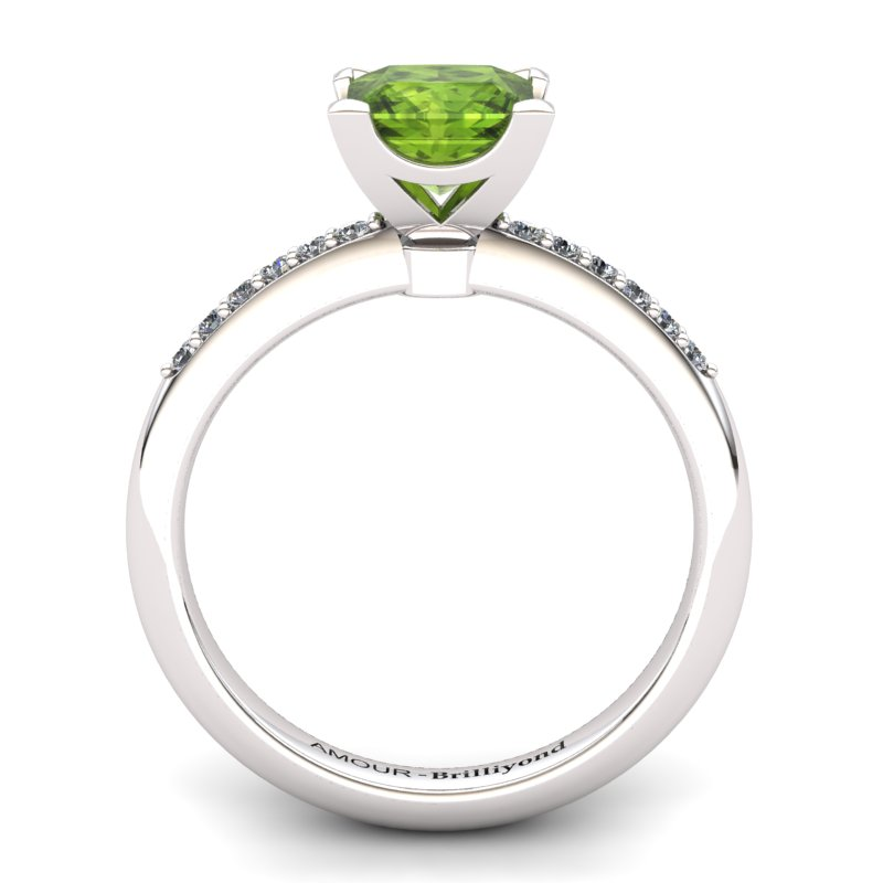 Peridot Elite Magic of Love Solitaire Ring_image1