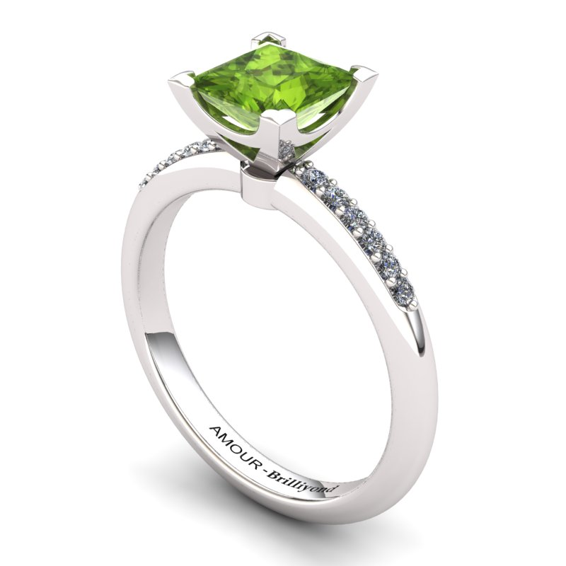 Peridot Elite Magic of Love Solitaire Ring_image2
