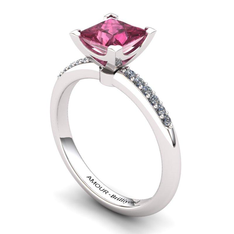 Garnet Elite Magic of Love Solitaire Ring_image1