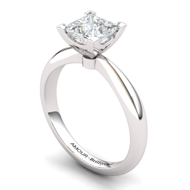 White Topaz Artisanal Magic of Love Solitaire Ring_image1