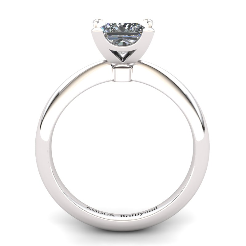 White Topaz Artisanal Magic of Love Solitaire Ring_image2