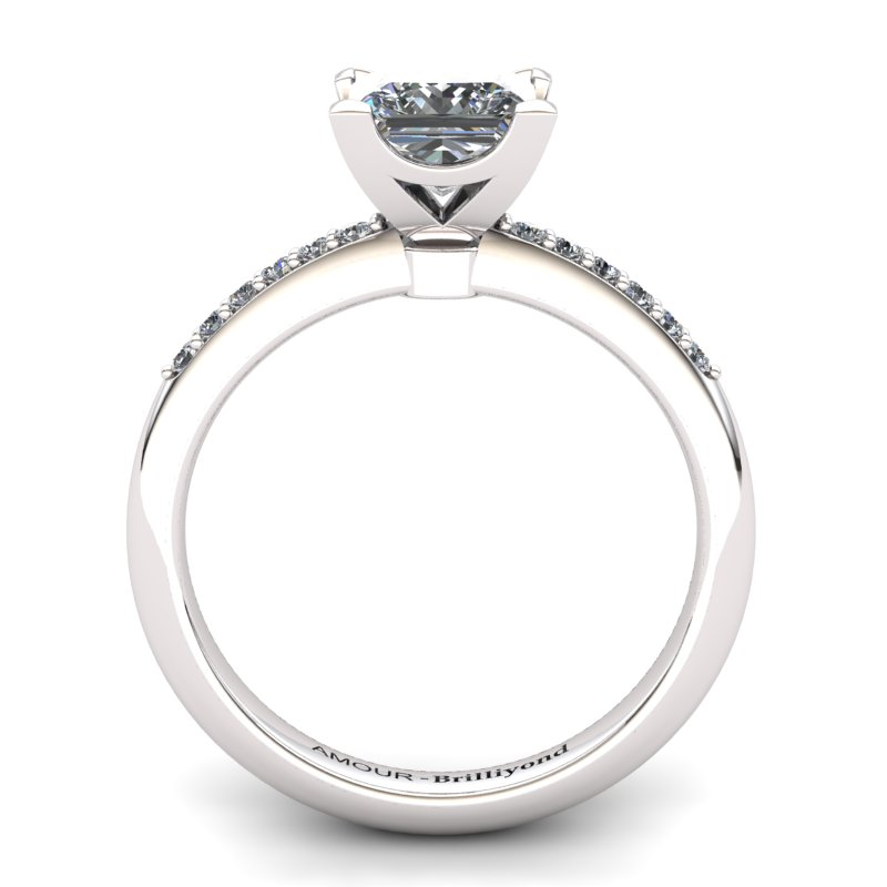 White Topaz Elite Magic of Love Solitaire Ring_image1