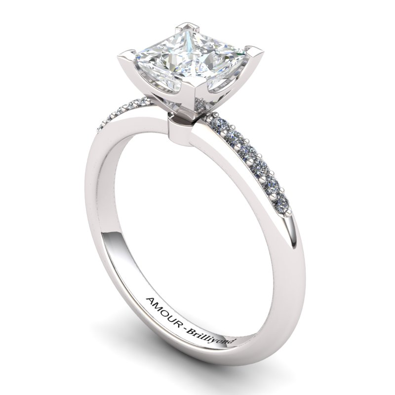White Topaz Elite Magic of Love Solitaire Ring_image2
