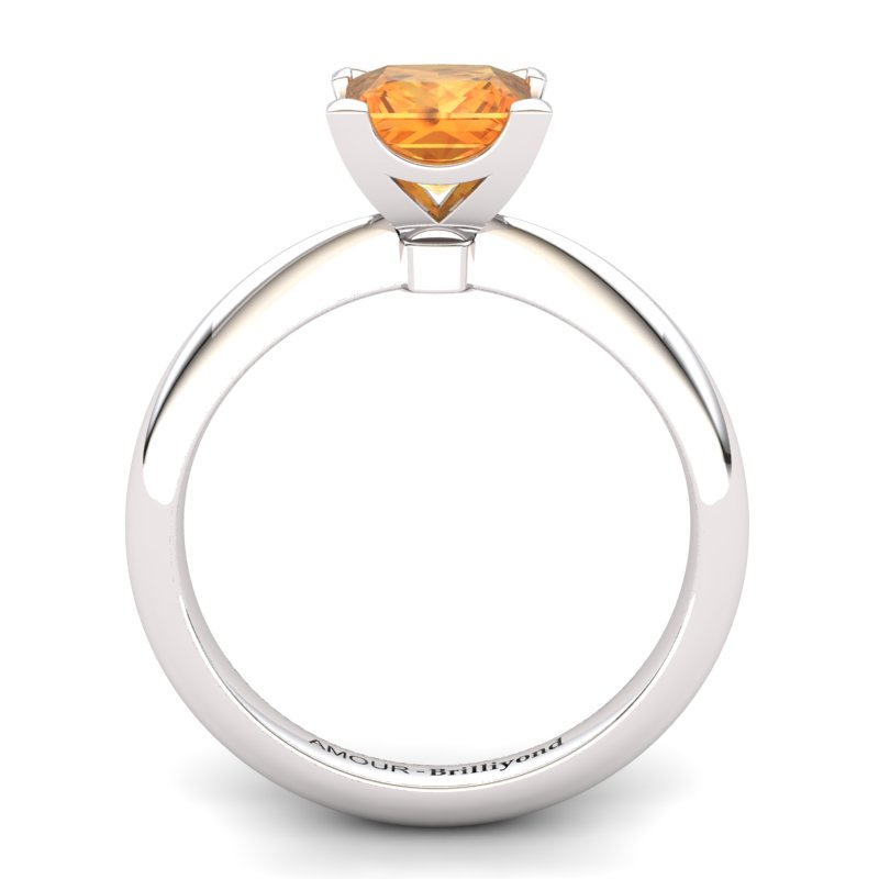 Citrine Artisanal Magic of Love Solitaire Ring_image1