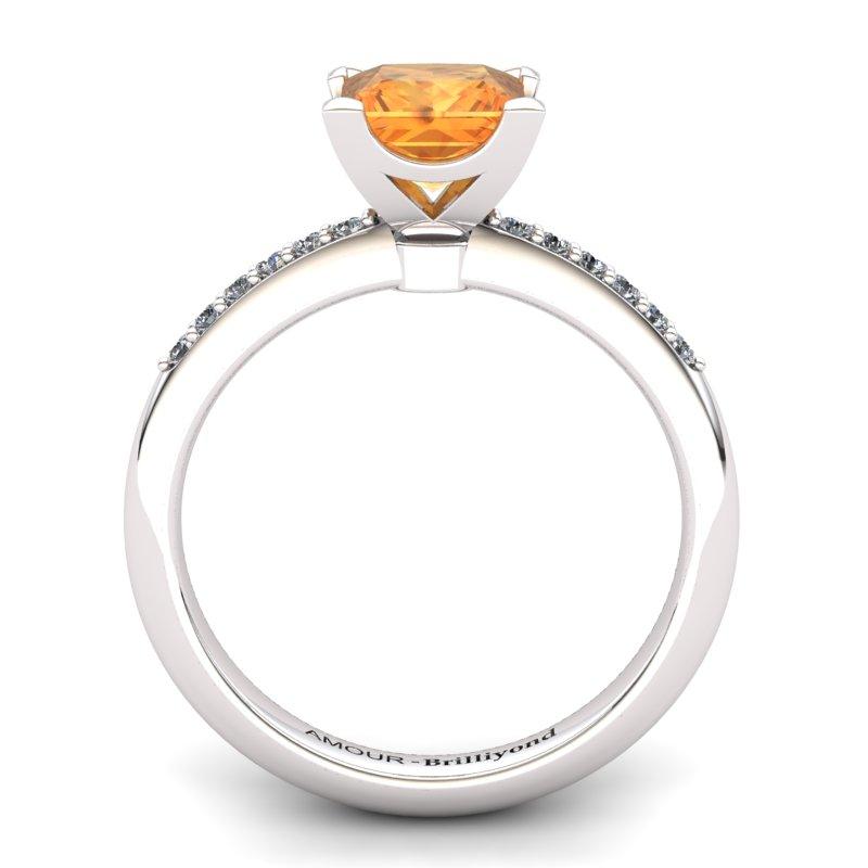 Citrine Elite Magic of Love Solitaire Ring_image2