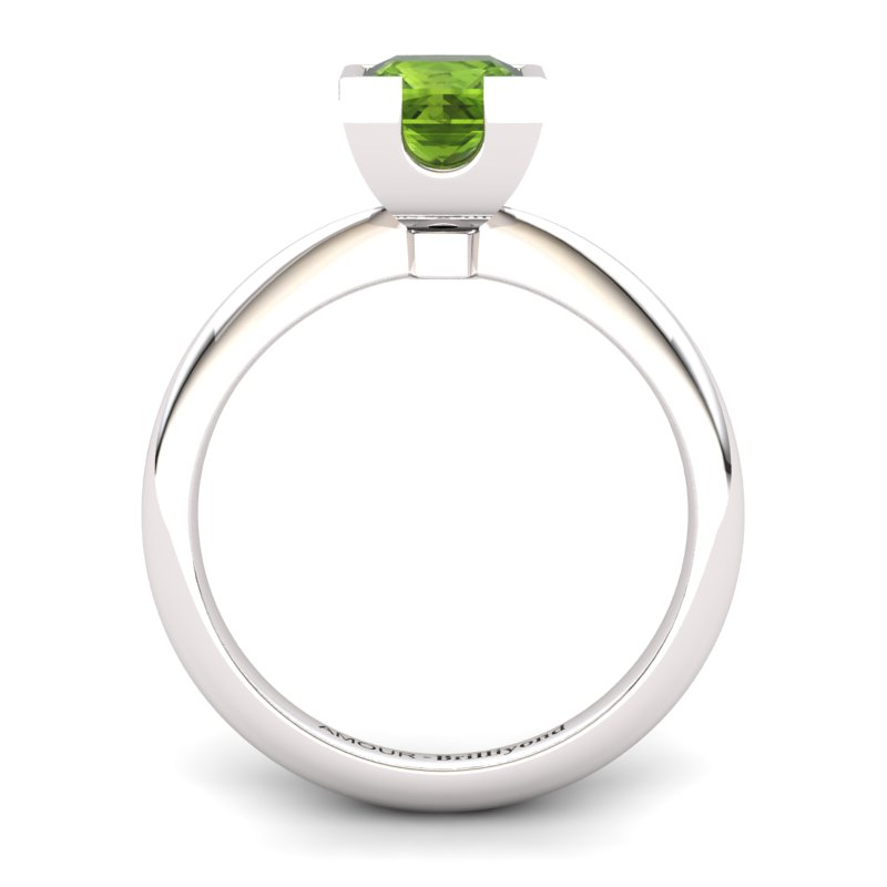 Peridot Artisanal Watchtower Solitaire Ring_image1