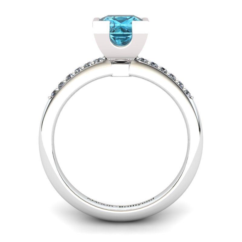 Blue Topaz Elite Watchtower Solitaire Ring_image1