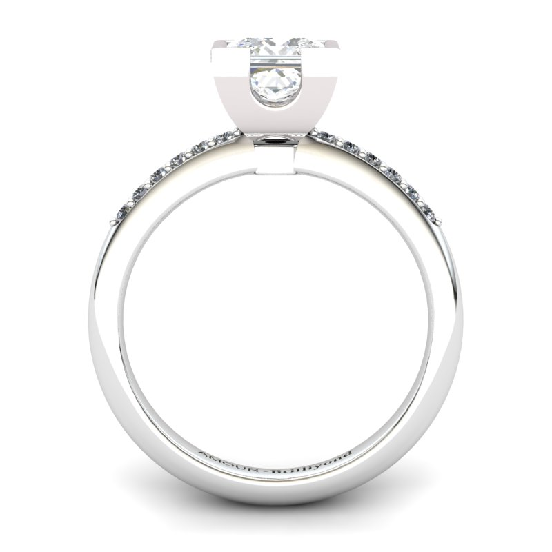 White Topaz Elite Watchtower Solitaire Ring_image1