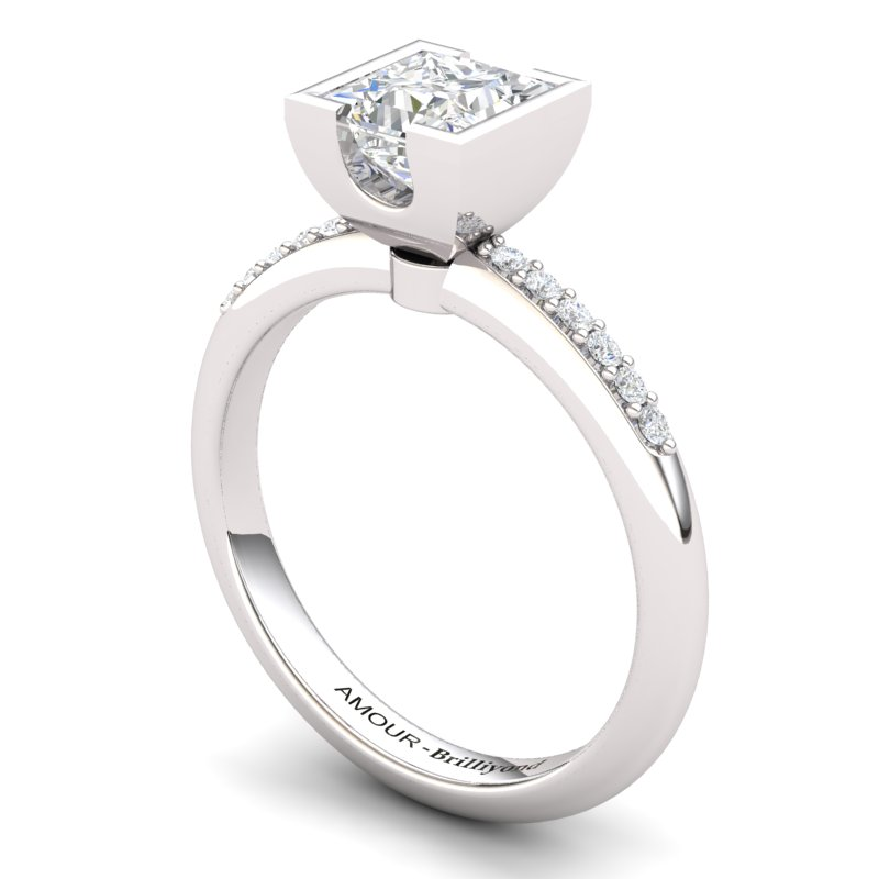 White Topaz Elite Watchtower Solitaire Ring_image2