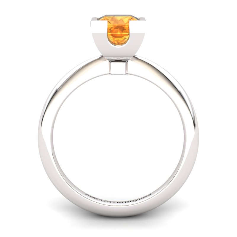 Citrine Artisanal Watchtower Solitaire Ring_image1
