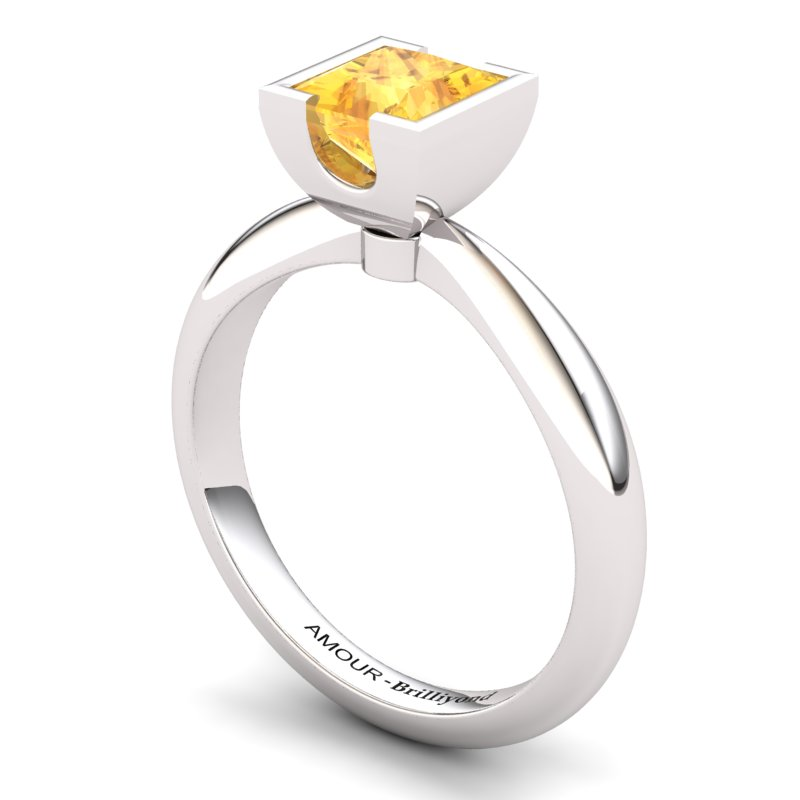 Citrine Artisanal Watchtower Solitaire Ring_image2
