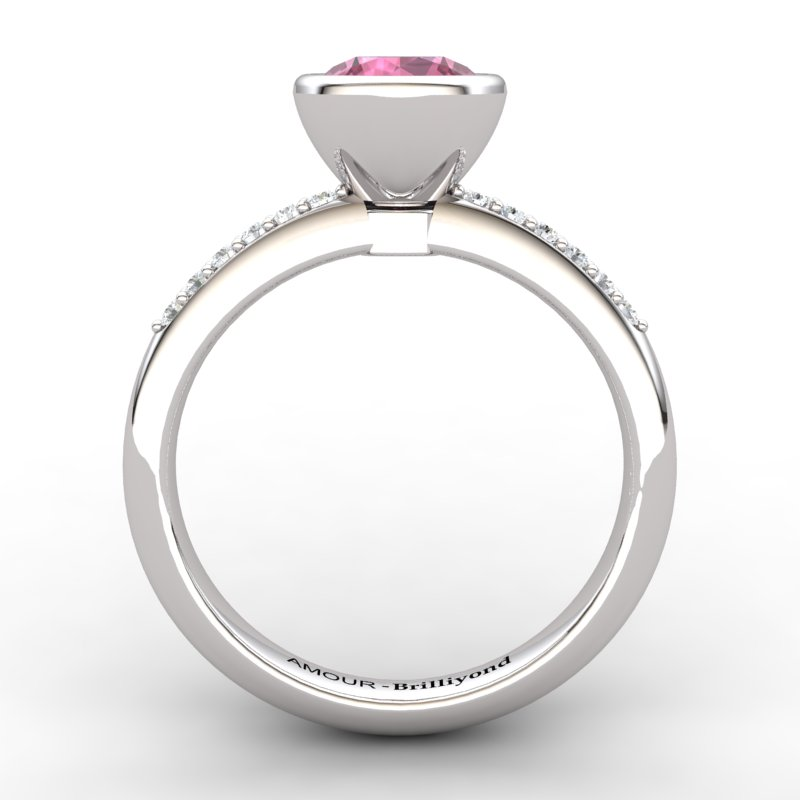 Garnet Elite Imperial Cone Solitaire Ring_image1