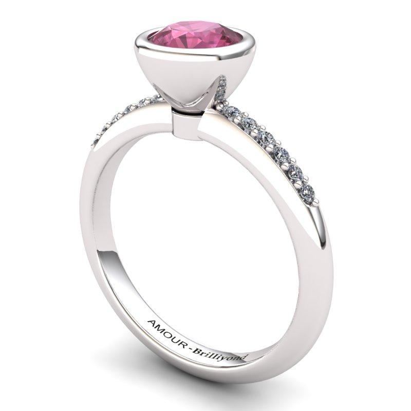 Garnet Elite Imperial Cone Solitaire Ring_image2