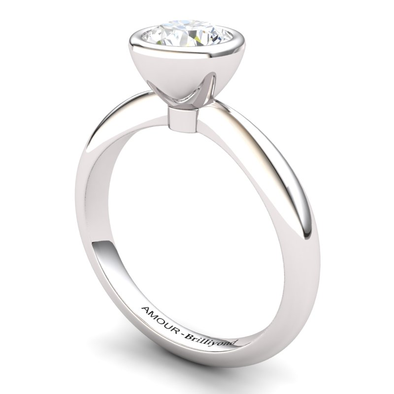 White Topaz Artisanal Imperial Cone Solitaire Ring_image1