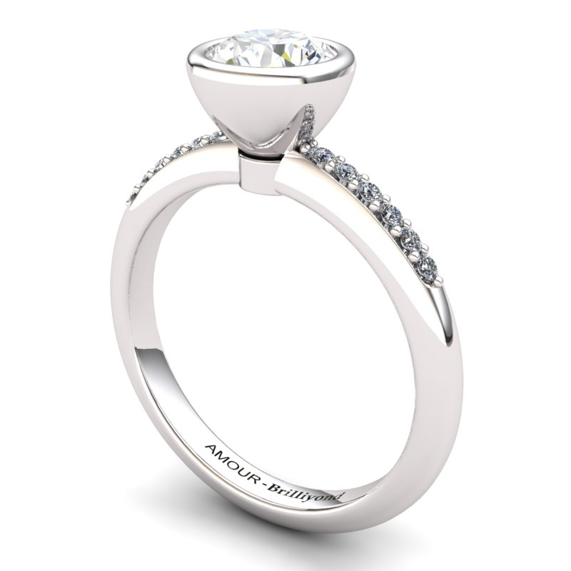 White Topaz Elite Imperial Cone Solitaire Ring_image2