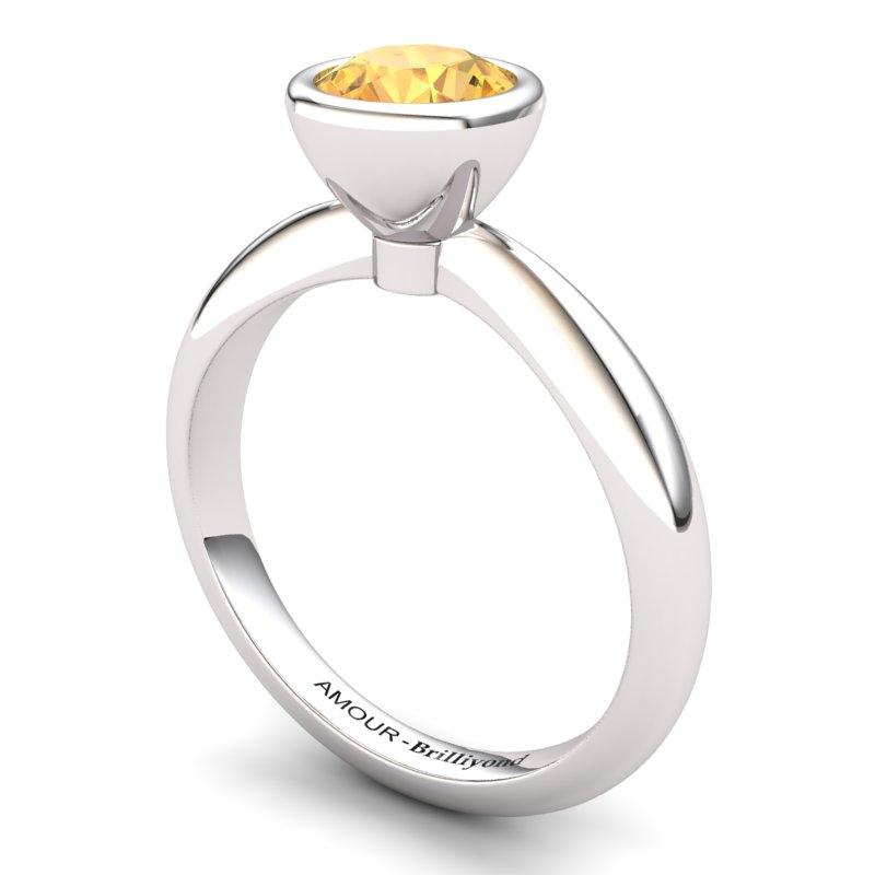 Citrine Artisanal Imperial Cone Solitaire Ring_image2