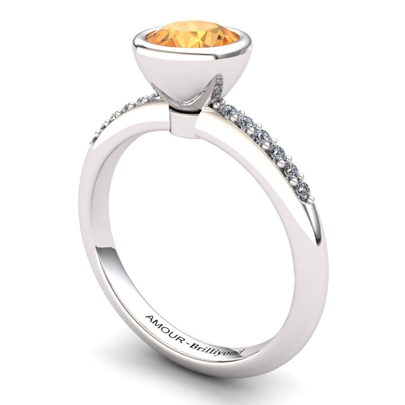 Citrine Elite Imperial Cone Solitaire Ring_image1
