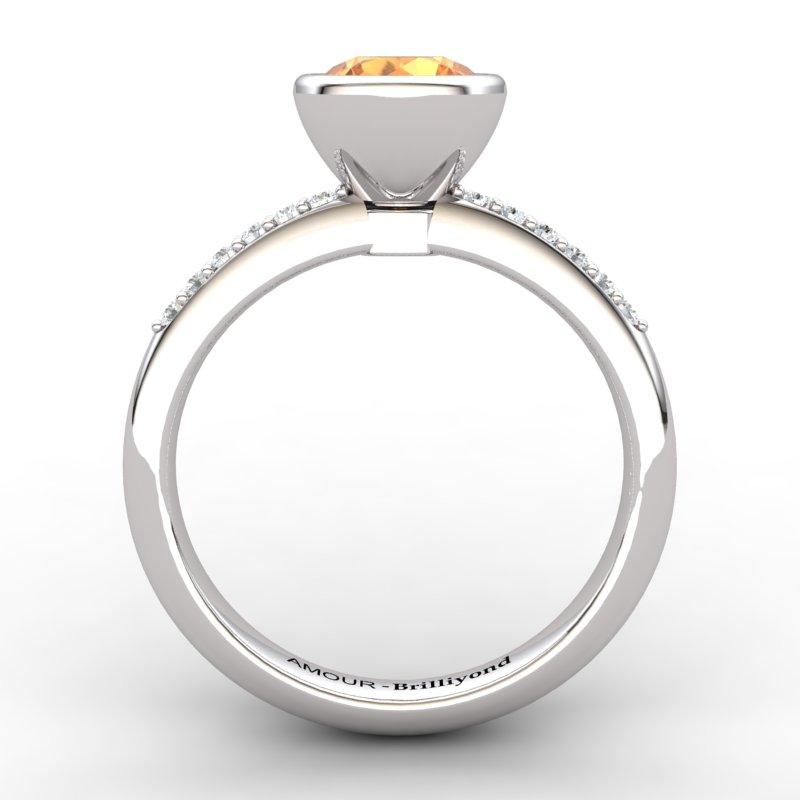 Citrine Elite Imperial Cone Solitaire Ring_image2