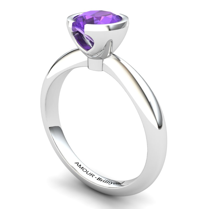 Amethyst Artisanal The Eye of Venus Solitaire Ring_image1