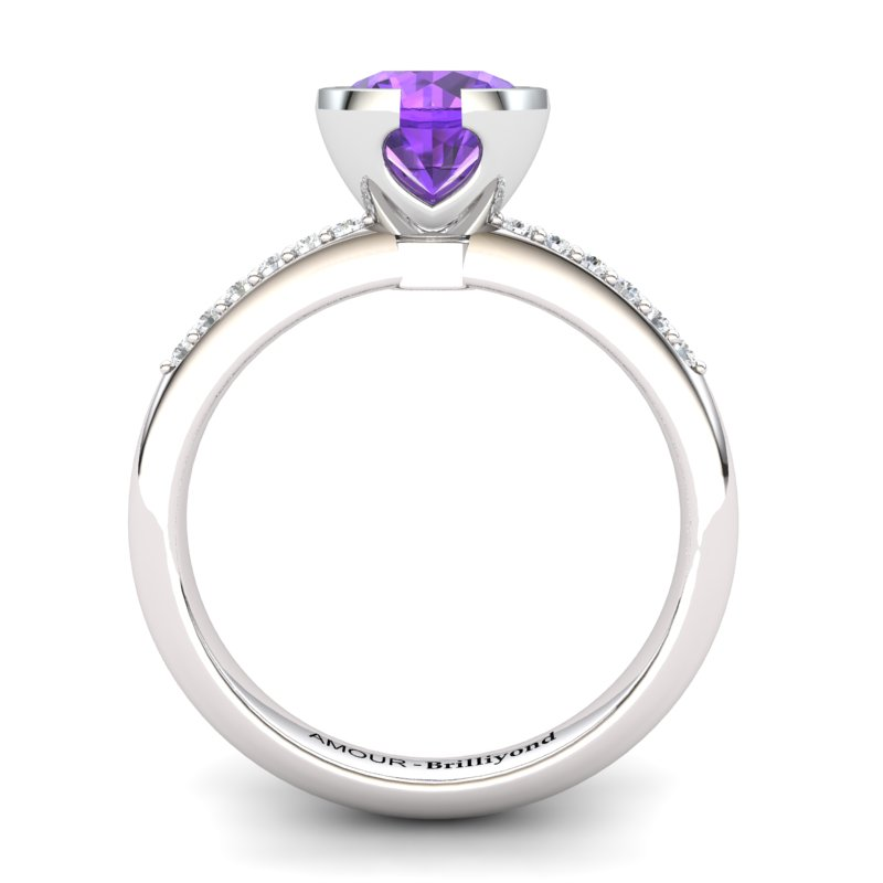 Amethyst Elite The Eye of Venus Solitaire Ring_image1