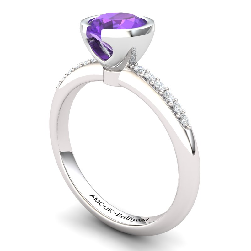 Amethyst Elite The Eye of Venus Solitaire Ring_image2