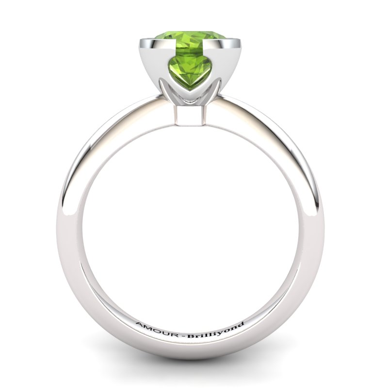 Peridot Artisanal The Eye of Venus Solitaire Ring_image1