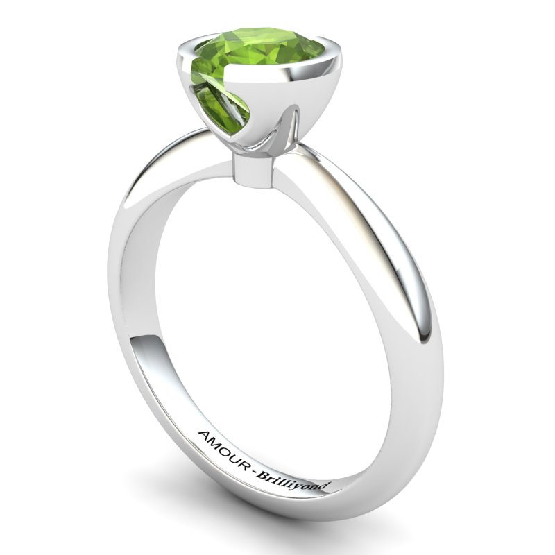 Peridot Artisanal The Eye of Venus Solitaire Ring_image2