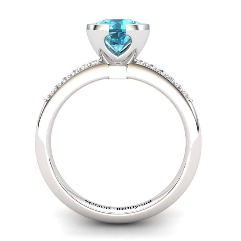 Blue Topaz Elite The Eye of Venus Solitaire Ring_image2