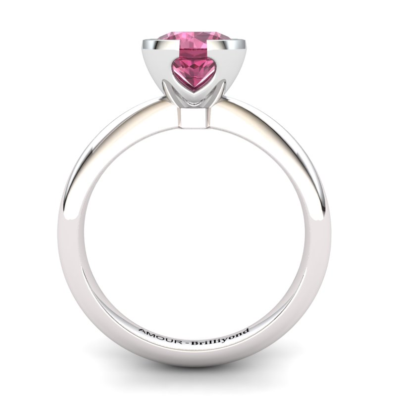 Garnet Artisanal The Eye of Venus Solitaire Ring_image1