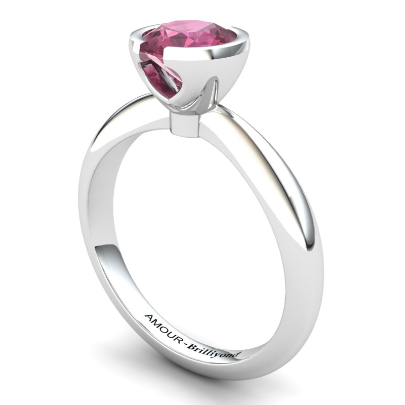 Garnet Artisanal The Eye of Venus Solitaire Ring_image2