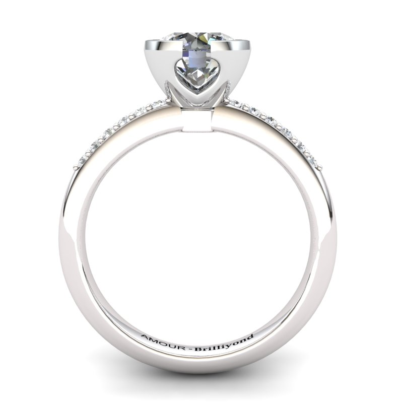 White Topaz Elite The Eye of Venus Solitaire Ring_image1
