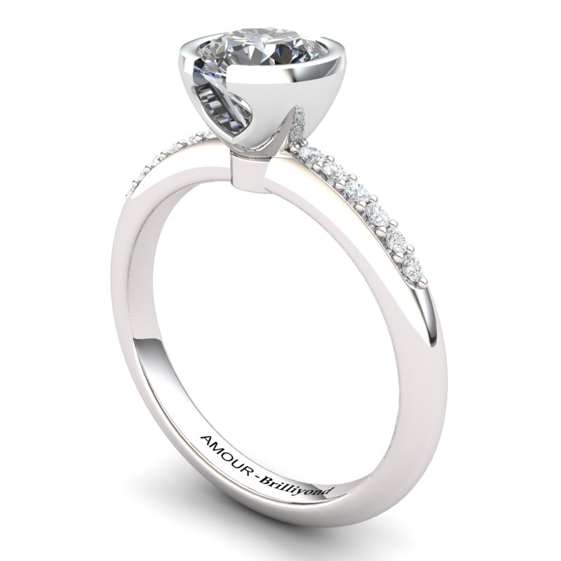 White Topaz Elite The Eye of Venus Solitaire Ring_image2